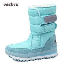 Vzehcu женские зимние ботинки Большие размеры 35–41 зимние ботинки очень тёплые плюшевые ботинки на платформе 8 цветов Модные женские туфли 9c05