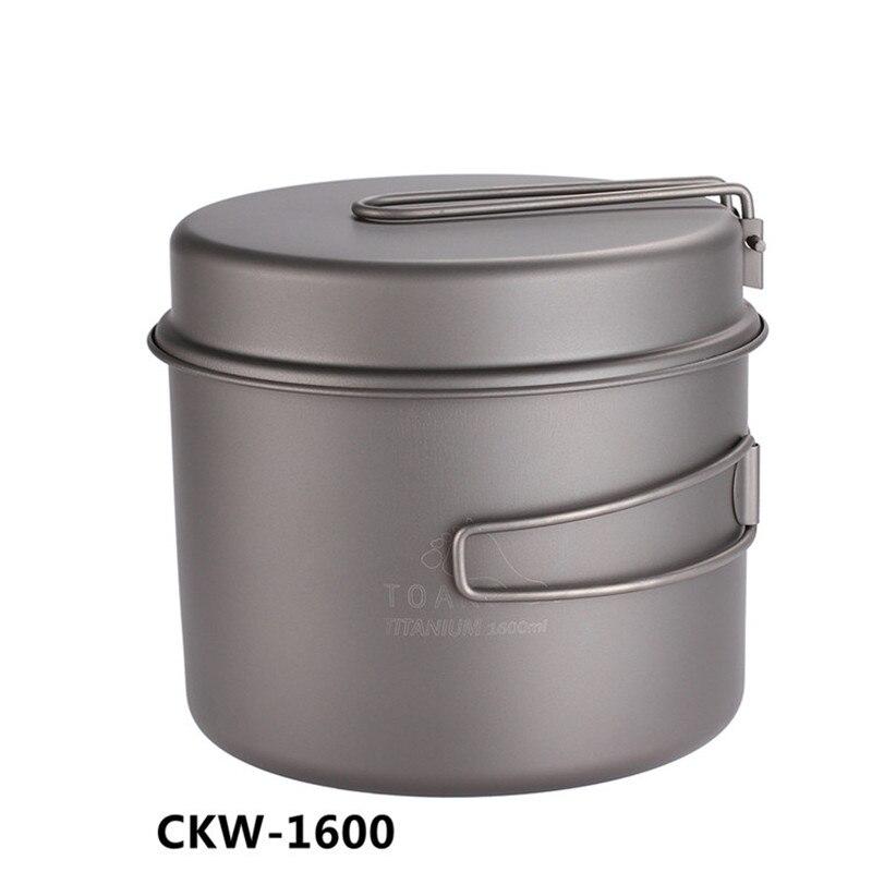 TOAKS Cookware Set Ultralight Titanium Pot Frying Pan Outdoor Camping Titanium Bowl Titanium Cup Picnic 1100ml