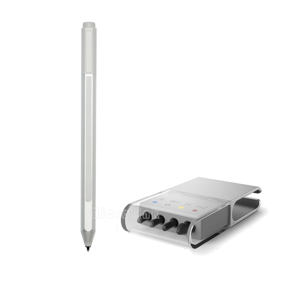 New Stylus Pen + Refill for Surface Pro 4 Silver Touch Refill Capacitive Ballpoint