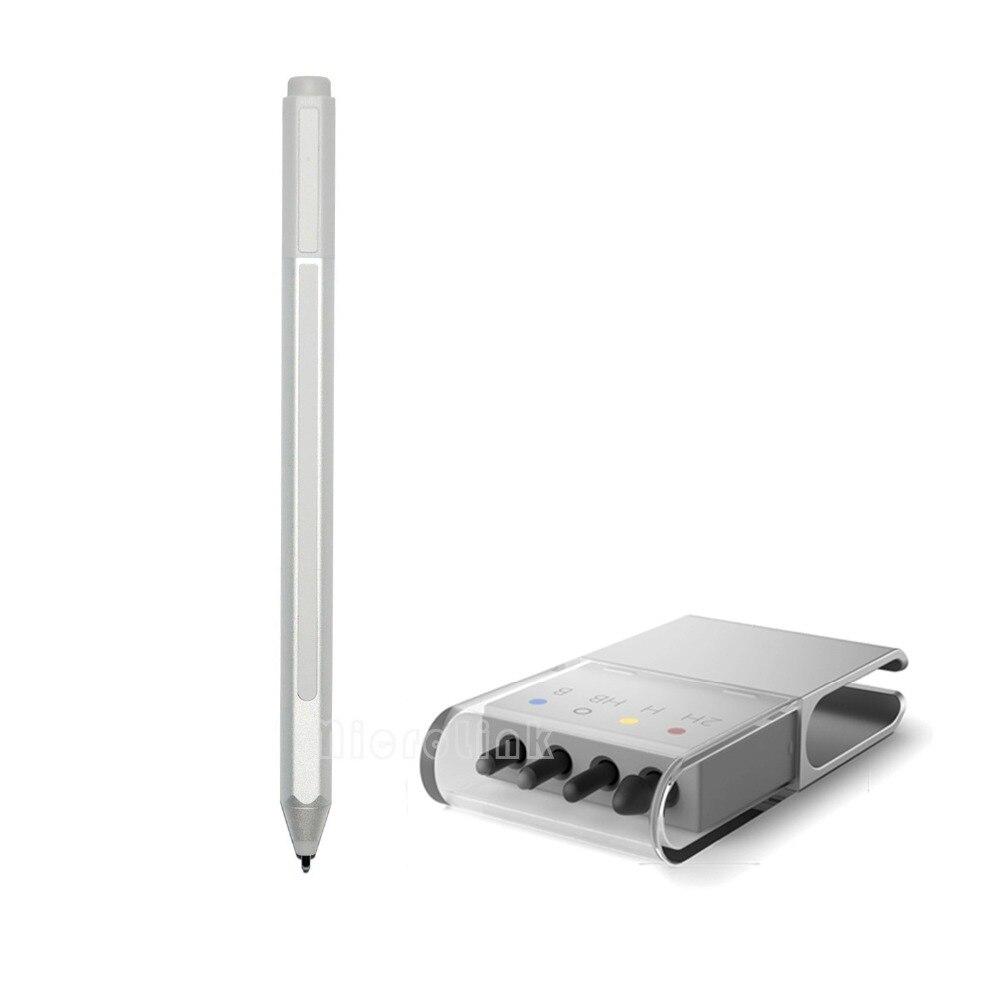 Nuova Penna Stilo + Ricarica per Superficie Pro 4 Argento Touch Ricarica Capacitivo A Sfera