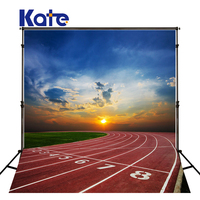 KATE Photography Background Plastic Runway Backdrop for Children Blue Sky and Playgrounds Backdrop School Children Backgrounds