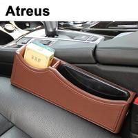 Atreus Genuine Leather Car Charger Seat Pocket Storage Box For Lexus Honda Civic Opel astra h j Mazda Kia Rio Ceed Volvo Lada