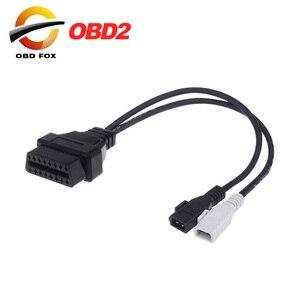 Image 1 - 2019 für Audi für Skoda für VW VAG 2x2 KKL 2x2 zu 16 Pin OBDII OBD2 diagnose Adapter Kabel freies verschiffen