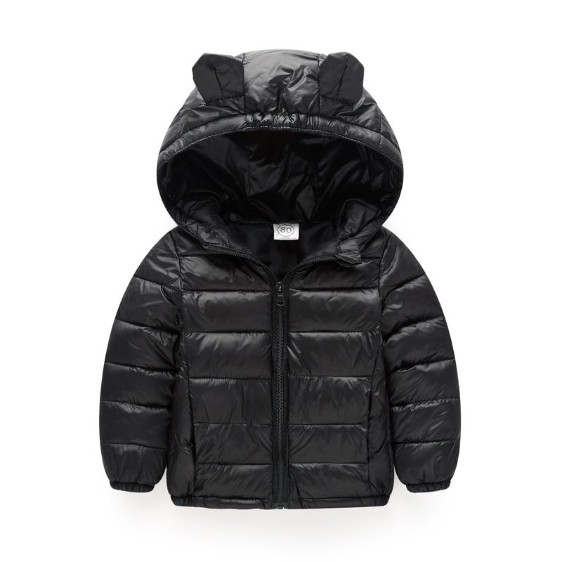 Filles D'hiver Vestes Garçons Style de Bande Dessinée Fille De Mode Survêtement Bébé Filles Vêtements Veste À Capuche pour les Filles Coton Parkas
