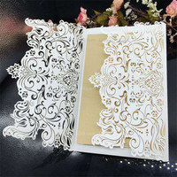 30Pcs Wedding Party Invitation Card Romantic Invitation Laser Cut Delicate Carved Pattern Wedding Invitations Party Supplies
