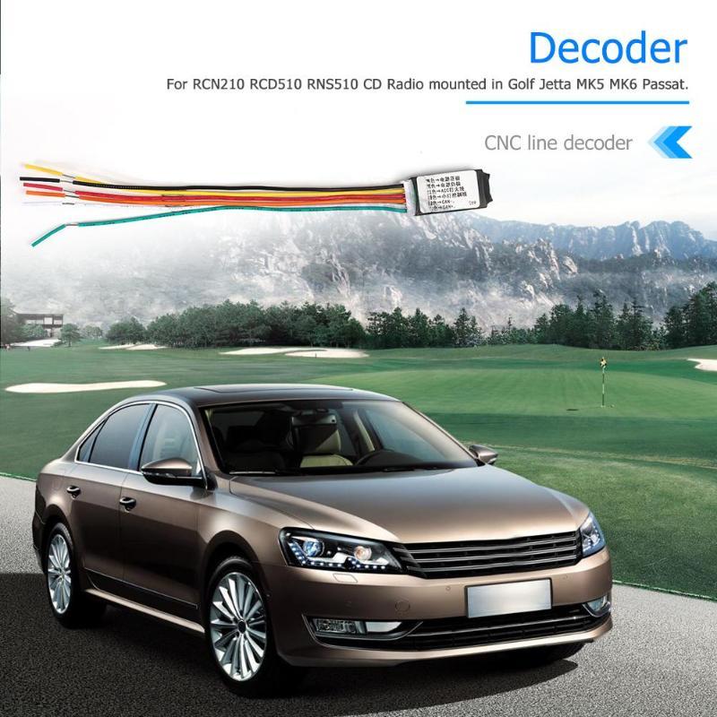 Emulator Jetta For VW Golf MK5 MK6 RCN210 RCD510 Rns510-Decoder 1pcs Gateway Canbus