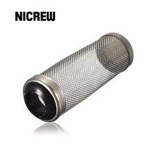 Nicrew высокое качество Нержавеющая сталь металлическая трубка фильтр для аквариума приток входное отверстие корзина пюре креветки гвардии защиты садок для рыбы