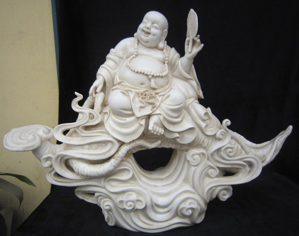 Crafts statue Great Chinese dehua huayi porcelain statues happy laughing Buddha too statue halloween