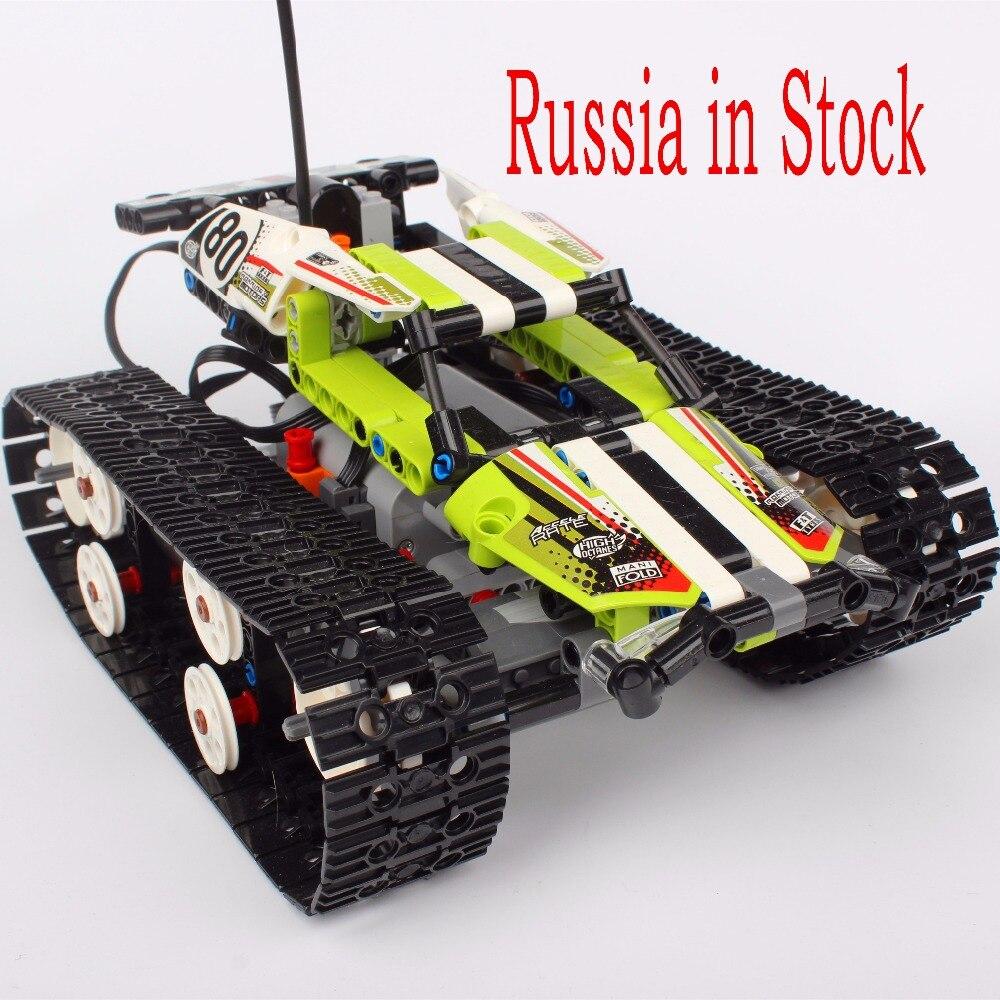 La russie En Stock Télécommande RC Suivi Racer Building Block Briques Jouets Compatible avec Legoings Technique 42065
