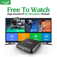 M8S Android Smart TV Box Qhdtv Abonnement 1300 Canaux Iptv arabe Europe ROYAUME-UNI IPTV Set Top Box Turc Pays-Bas Espagnol boîte
