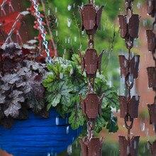 Садовые пластиковые бронзовые дождевые цепи, кольцо, дренажный колокольчик, украшение для виллы, Висячие Водостоки длиной 3 метра