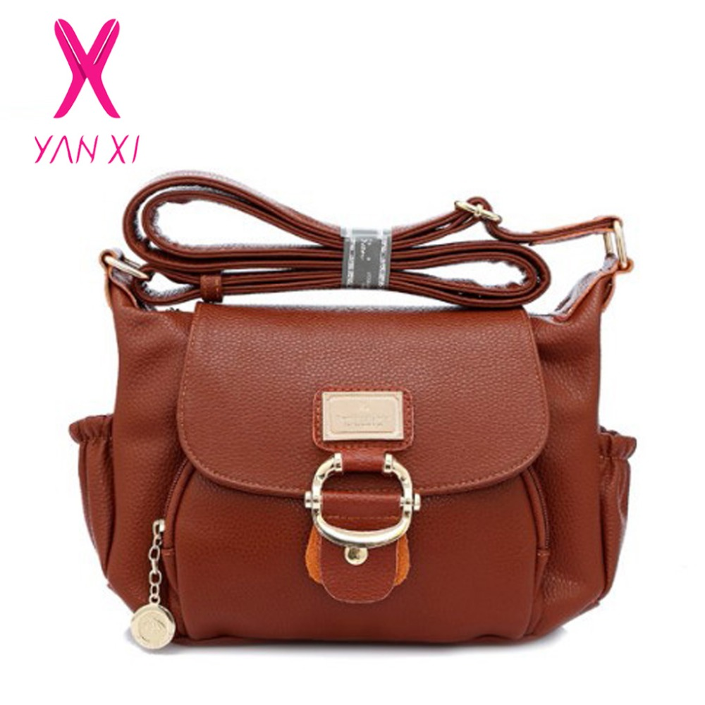 YANXI Famous Luxury Handbags Fashion European And American Style Solid Lady Shoulder Messengerbag Designer Handbags High