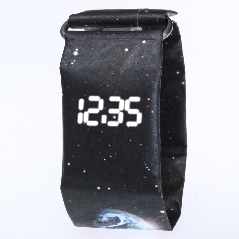 Fashion Creative Paper Digital Watch Men Wrist Watch Waterproof Electronic Watches LED Men's Watch Clock relogio masculino reloj