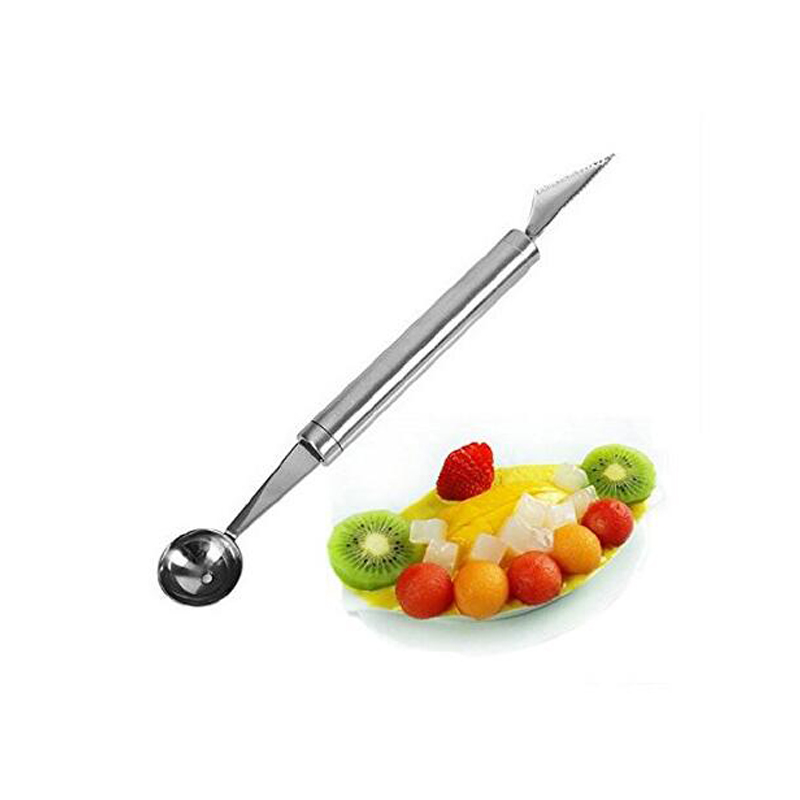 Fruit Carving Knife Watermelon Baller Decorating Tools Ice Cream Dig Ball Scoop Spoon Baller Diy Assorted Cold Dishes Tool in Melon Scoops Ballers from Home Garden