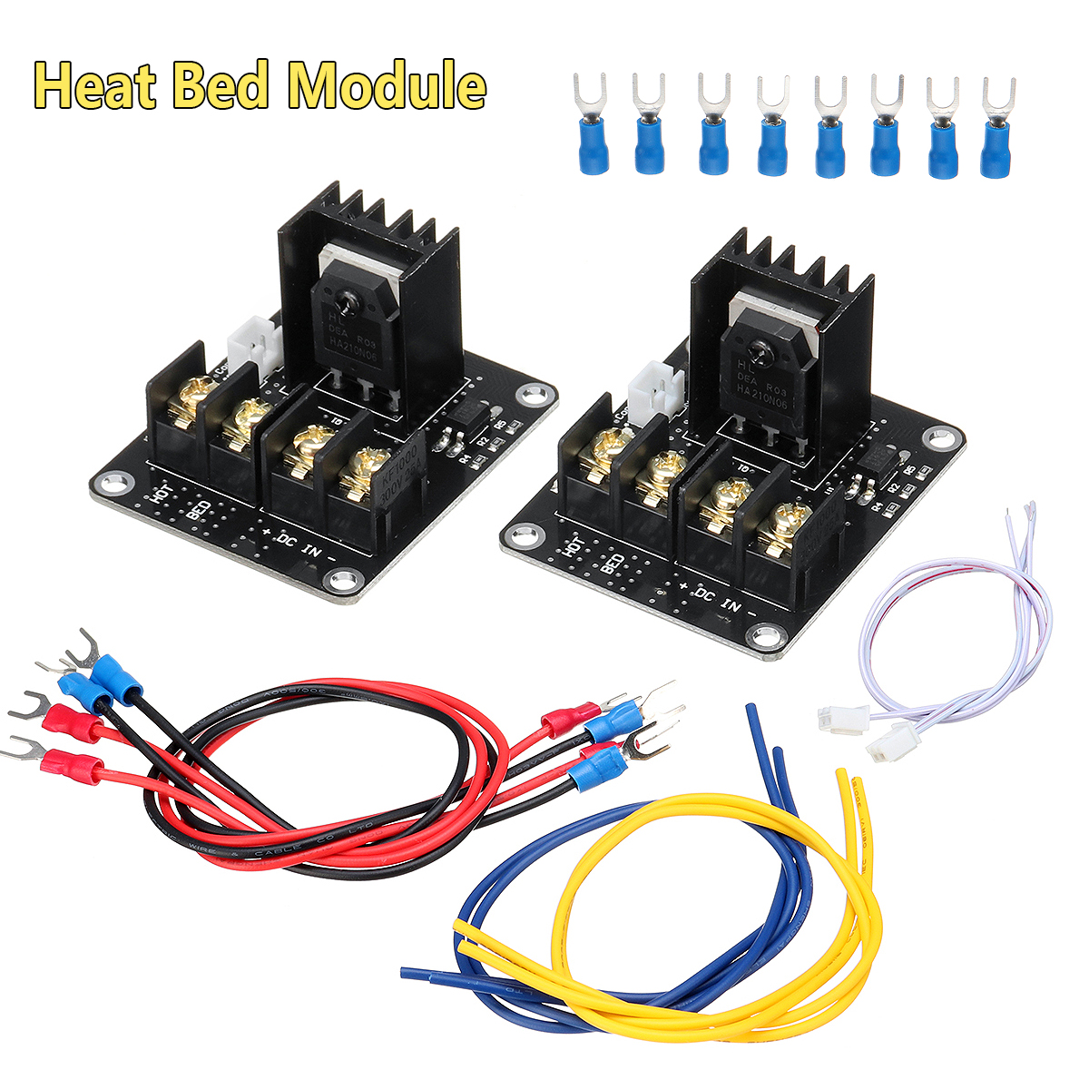 25A MOSFET High Power Heated Bed Expansion Power Module Kit MOS Tube for 3D Printer Parts Accessories Mainboard Pipe Set expansion module elc md204l text panel