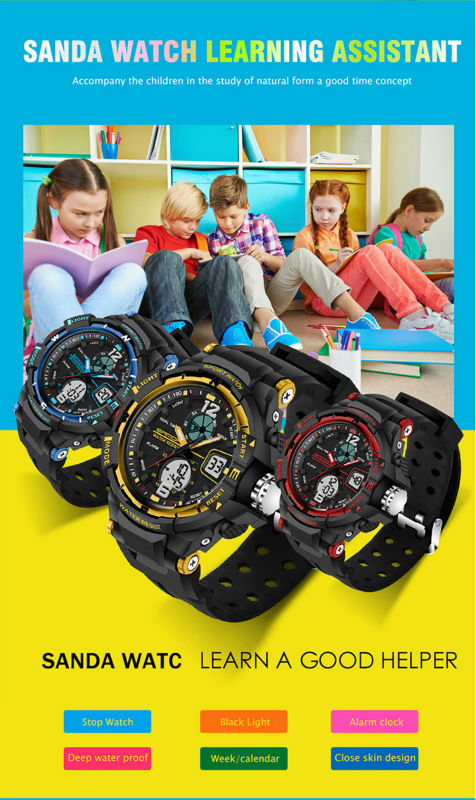 brand sanda led digital wristwatches for student (8)