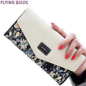 FLYING BIRDS wallet for women wallets brands purse dollar price printing designer purses card holder coin bag female LM4163fb(China)