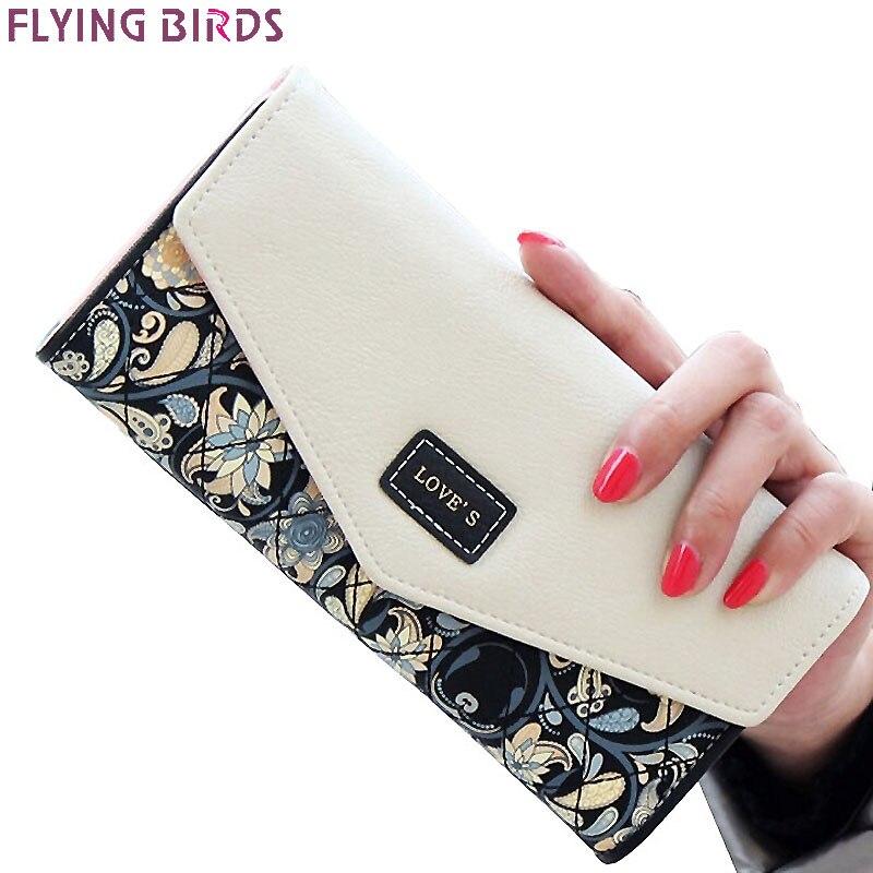FLYING BIRDS wallet for women wallets brands purse dollar price printing designer purses card holder coin bag female LM4163fb