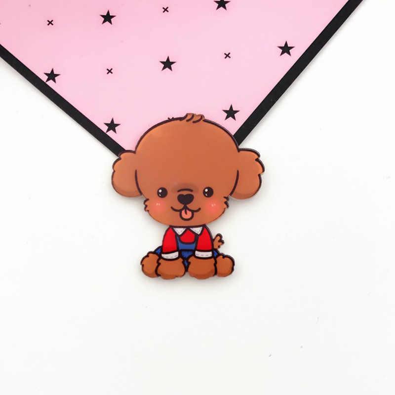 Vendita calda Spilla Popolare Harajuku Gatto Kawaii Acrilico 1PC Del Cane Del Fumetto Per Zaini Distintivi e Simboli Simpatici Animali Vestiti Spilli Per delle donne