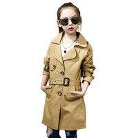 2018 Spring Autumn girls long sleeve long jacket new children trench coats princess casual outwear kids top 18M06