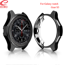 Купить с кэшбэком EIMO Gear S3 Case for samsung Galaxy watch 46mm frontie Smart watch band TPU All-Around Protective shell cover Accessories