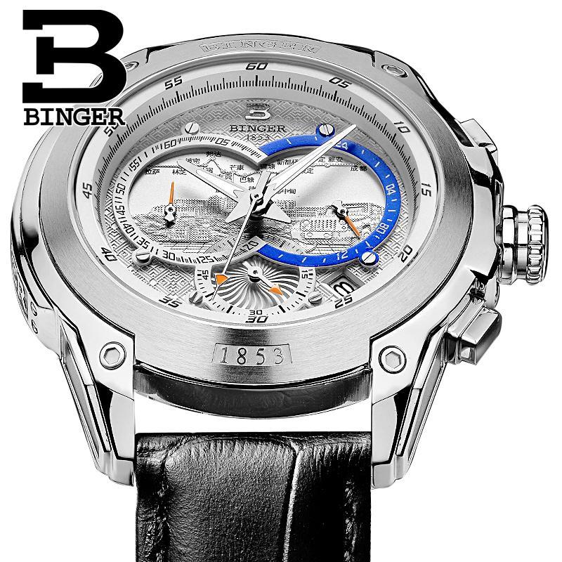 Szwajcaria zegarki mężczyźni luksusowa marka Zegarek na rękę - Męskie zegarki - Zdjęcie 3