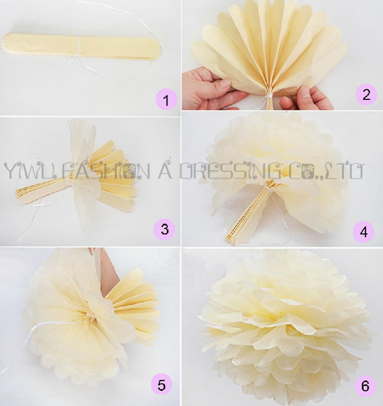 Giant Paper Flowers Pom Party Decoration 20inch 50cm 20piece Lot Diy Rose Ball In Artificial Dried From Home Garden On