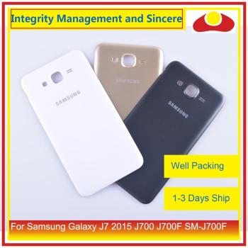 Original For Samsung Galaxy J7 2015 J700 J700F J700H J700M Housing Battery Door Rear Back Cover Case Chassis Shell 10pcs lot for samsung galaxy core prime g360 g360h g360f housing battery cover door rear chassis back case housing replacement