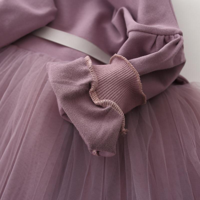 HTB1UfFaoJzJ8KJjSspkq6zF7VXa1 - Fashion stitching Baby Girl Dress Long sleeve spring Dresses for 0-24 month Girls Clothes Vestido Infantil Newborn Baby Clothing