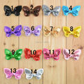 100pcs/lot 5cm 14 colors sequin bows boutique for girl headbands hairband  newborn baby hair ornaments accessories