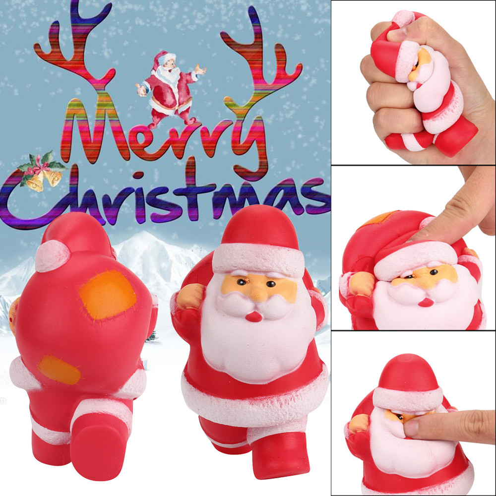 13cm Exquisite Santa Claus Squeeze Toy Soft Scented Squishy Slow Rising Healing Toys Stress Reliever Decor Kids Christmas Gifts