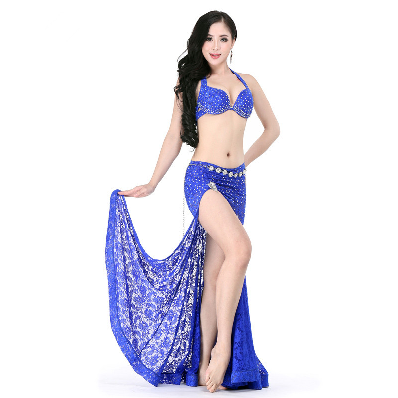Bellydance oriental Belly Indian gypsy dance dancing costume costumes clothes bra belt chain scarf ring skirt