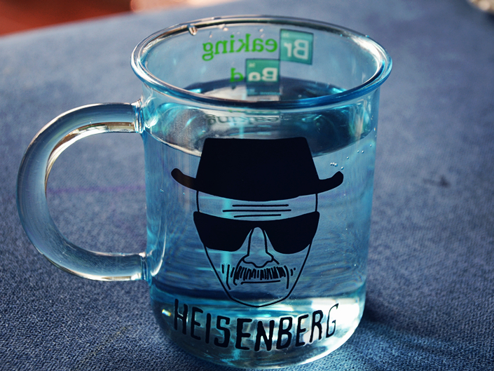 New Quality Transparent Glass Coffee Mug Cup Of The Breaking Bad Heisenberg