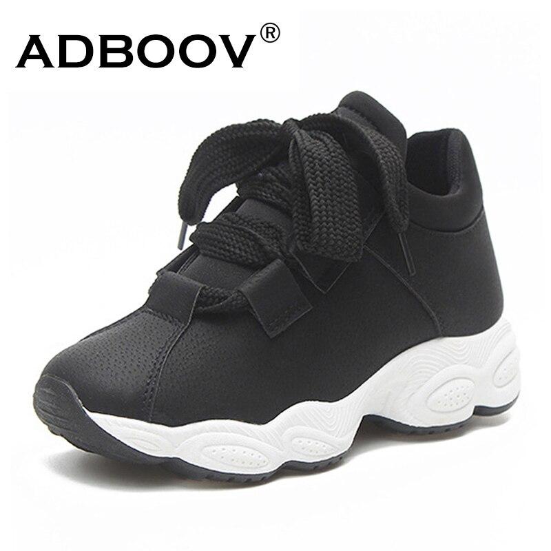 4677dd588cd ADBOOV Autumn Winter Platform Sneakers Women Pig Suede Comfortable Casual  Shoes Woman Korean Fashion Zapatos De Mujer Gray Black - World best deals