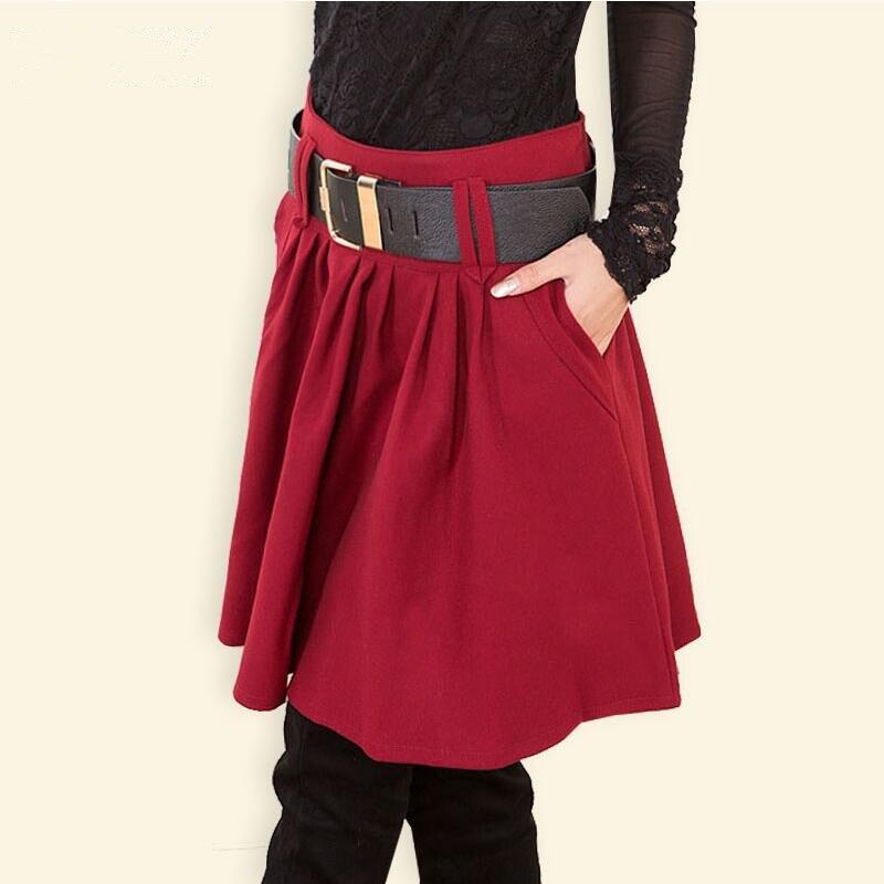 2019 Skirt Autumn Winter Women Skirt Fashion Female High Waist A Line Skirt Skirts Womens LY218