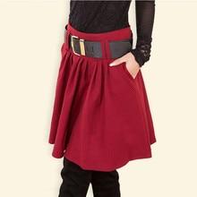 Юбка осень зима Женская юбка модная женская юбка с высокой талией А-силуэта юбки для женщин s LY218