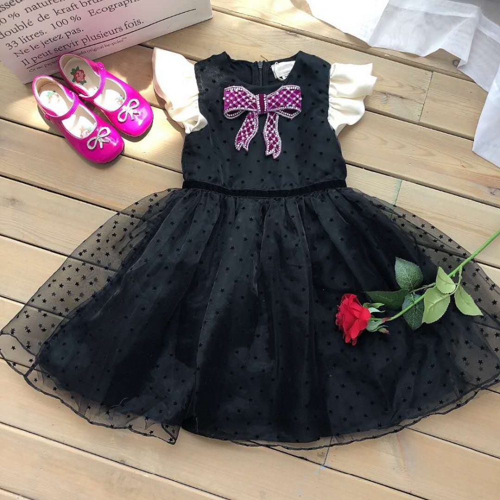 Girls Fashion black party dressGirls Fashion black party dress