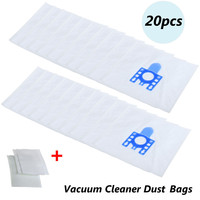 High Quality 20pcs Dust Bags Micro Filtration For Hoover Vacuum Cleaner And 4pcs Filters For MIELE