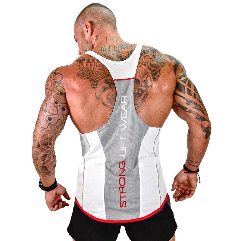 Men Bodybuilding Patchwork   Tank     top   Casual Fashion Sleeveless Shirt Muscular Man Gyms Fitness Sling Vest Crossfit Brand Clothing