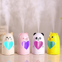 GRTCO Mini USB Cute Air Humidifier Silent Ultrasonic Diffuser Mist Maker Colorful Changing LED Night Light