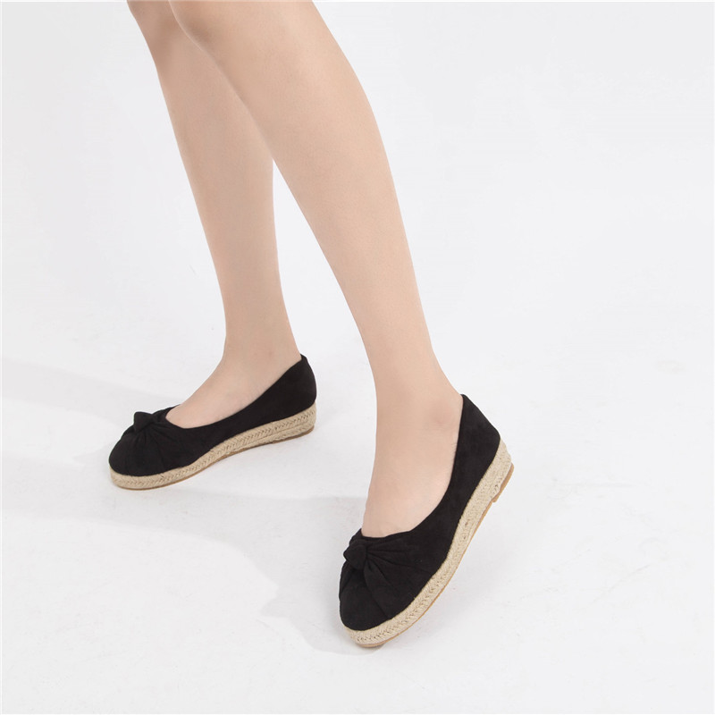 Women 39 s Flats 2019 Autumn Platforms Boat Shoes Wedges Shoes For Women High Heels Flats Ladies Plus Size Shallow Ballet Shoes in Women 39 s Flats from Shoes