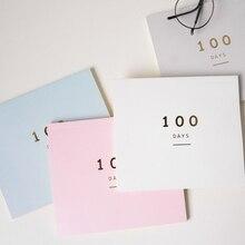 100 ежедневный календарь с обратным отсчетом, ежедневник на 100 дней, График обучения, ежедневник, школьные принадлежности, Канцтовары