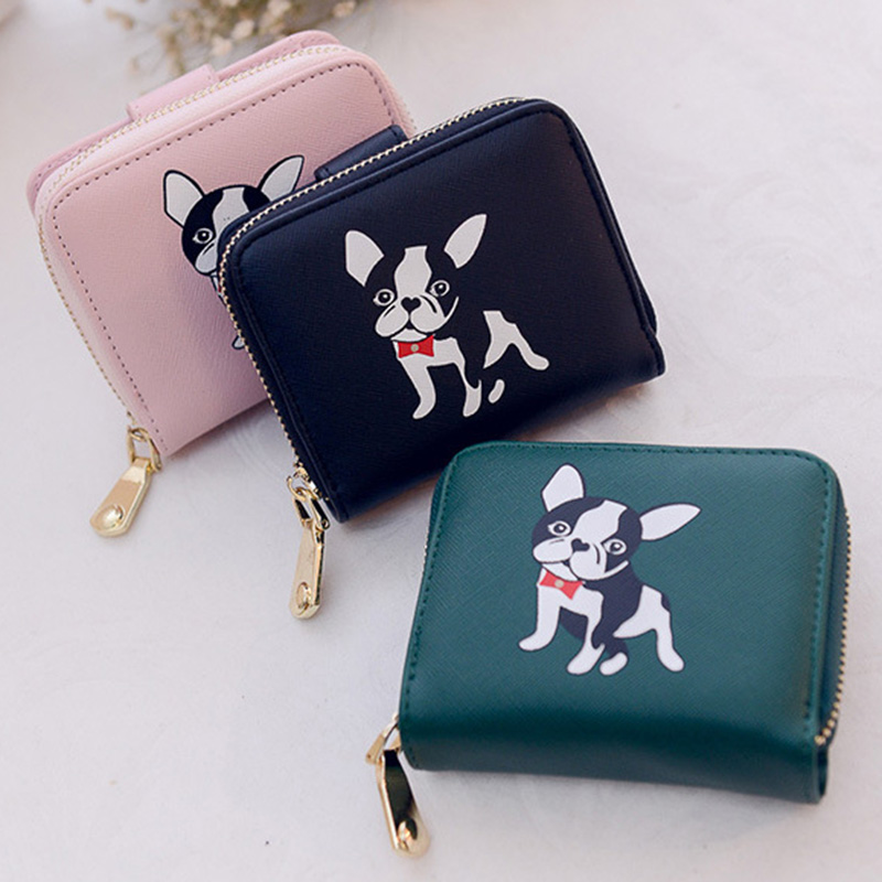 ... new product 2d2d9 0a120 KUDIAN BEAR Women Wallets Cute Small Purse  Carton Dog Short Wallet With ... 8c30fd33001e