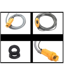 vehicle 2 meter 12V Cigarette Adapter Portable Camping Shower Kit Powered Pump Outdoor