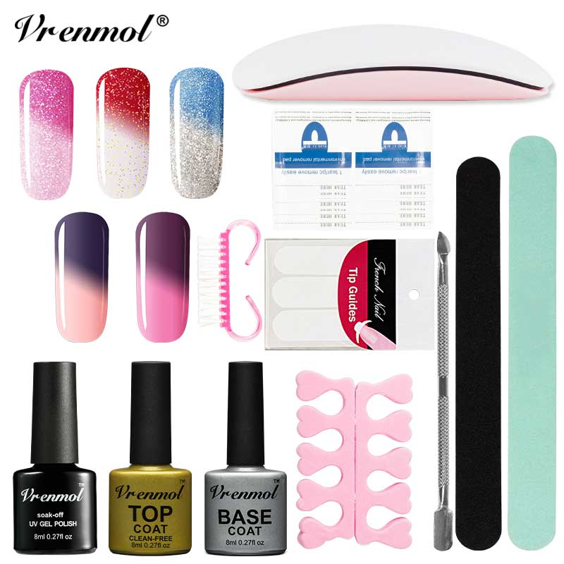 Vrenmol Temperature Change Color Gel Chameleon Gel Nail Polish Kit ...
