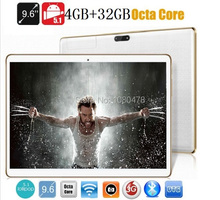 Tablet pc 9.6 pulgadas Octa core bluetooth wifi GPS 1280*800 5.1MID 5.0MP 4 GB 32 GB Android 3G WCDMA Phablet DHL Libre gratis
