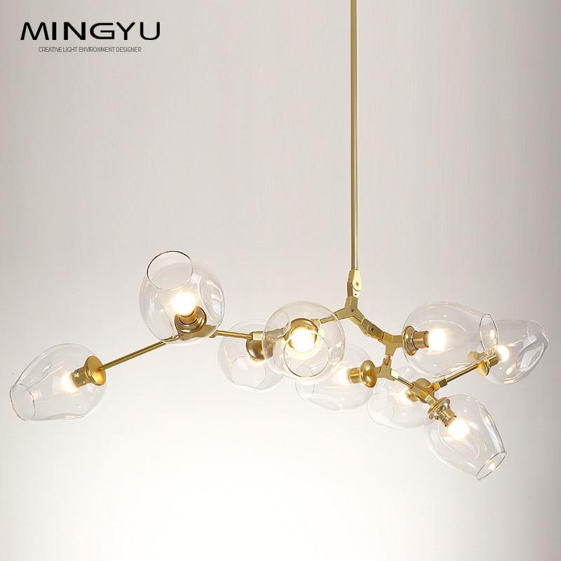 Longree Горячие золото ветка Классический Современный led подвесной светильник подвесной свет стильный шара промышленные Лофт железа Droplight