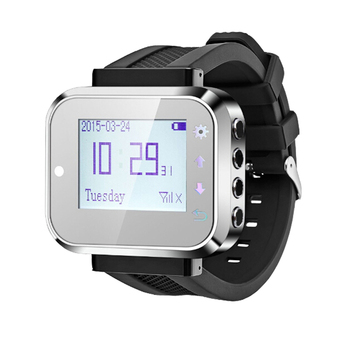 433MHz Wrist Watch Receiver Wireless Calling System Waiter Call Pager Restaurant Equipment Catering Customer Service K-300plus