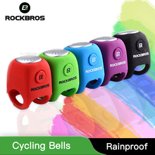 ROCKBROS Electric Cycling Bells 110 dB Silica Gel Shell Ring Horn Rainproof MTB Bicycle Handlebar Bell tool Accessories