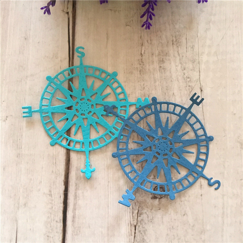 Compass Shapes Metal Cutting Dies Stencil CardDIY Scrapbooking Embossing Paper Craft Album Book DIY Craft in Cutting Dies from Home Garden